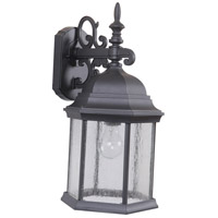 Craftmade Z694-TBCS Hex Style 1 Light 18 inch Textured Matte Black Outdoor Wall Lantern, Large