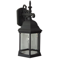Craftmade Z694-TB Hex Style 1 Light 18 inch Textured Matte Black Outdoor Wall Lantern in Clear Beveled, Large