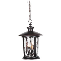 Craftmade Z7121-88 Summerhays 3 Light 12 inch Oiled Bronze Gilded Outdoor Pendant in Clear Hammered