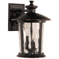 Summerhays 3 Light 17 inch Oiled Bronze Gilded Outdoor Wall Lantern, Large