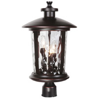 Craftmade Z7125-88 Summerhays 3 Light 17 inch Oiled Bronze Gilded Outdoor Post Mount in Clear Hammered