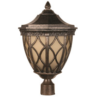 Craftmade Z7225-112 Evangeline 3 Light 19 inch Peruvian Bronze Outdoor Post Mount in Amber Frost Glass