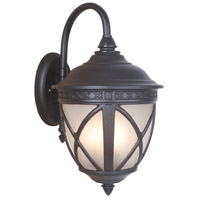 Artesia 3 Light 23 inch Oiled Bronze Outdoor Wall Mount Lantern in White Frosted Glass