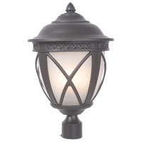 Artesia 3 Light 22 inch Oiled Bronze Post Mount in White Frosted Glass