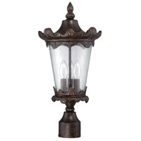 Exteriors by Craftmade Kingston 3 Light Post Mount in Peruvian Bronze Z7425-112