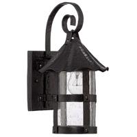 Exteriors by Craftmade Willoughby 1 Light Outdoor Wall Mount Lantern in Midnight Z7504-11