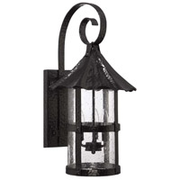 Willoughby 3 Light 26 inch Midnight Outdoor Wall Mount Lantern in Clear Seeded