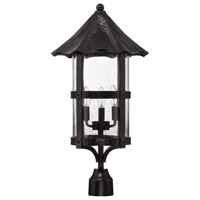 Exteriors by Craftmade Willoughby 3 Light Post Mount in Midnight Z7525-11