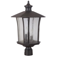 Exteriors by Craftmade Chateau 3 Light Post Mount in Oiled Bronze Gilded Z7725-88