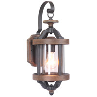 Craftmade Z7904-TBWB Ashwood 1 Light 17 inch Textured Black and Whiskey Barrel Outdoor Wall Lantern, Small alternative photo thumbnail