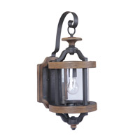 Craftmade Z7914-TBWB Ashwood 1 Light 23 inch Textured Black and Whiskey Barrel Outdoor Wall Lantern, Medium alternative photo thumbnail