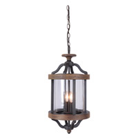 Craftmade Z7921-TBWB Ashwood 2 Light 11 inch Textured Black and Whiskey Barrel Outdoor Pendant alternative photo thumbnail