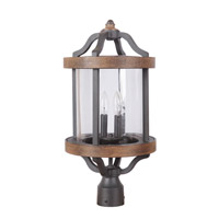 Craftmade Z7925-TBWB Ashwood 2 Light 22 inch Textured Black and Whiskey Barrel Outdoor Post Light alternative photo thumbnail