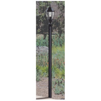 Direct Burial Textured Matte Black Outdoor Post, Fluted