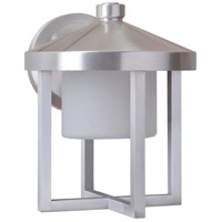 Craftmade Z9214-SA-LED Alta LED 9 inch Satin Aluminum Outdoor Wall Lantern, Medium