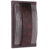 Lynk LED 15 inch Aged Copper Outdoor Pocket Sconce, Medium