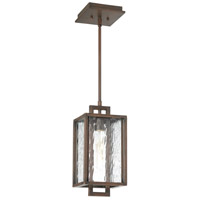 Cubic 1 Light 7 inch Aged Bronze Brushed Outdoor Pendant