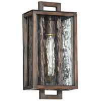 Craftmade Z9804-ABZ Cubic 1 Light 14 inch Aged Bronze Brushed Outdoor Wall Lantern, Small