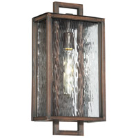 Cubic 1 Light 17 inch Aged Bronze Brushed Outdoor Wall Lantern, Medium