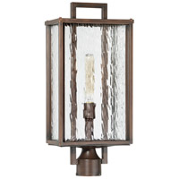 Cubic 1 Light 22 inch Aged Bronze Brushed Outdoor Post Mount