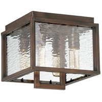 Cubic 4 Light 10 inch Aged Bronze Brushed Outdoor Flush Mount