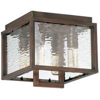 Craftmade Z9827-ABZ Cubic 4 Light 10 inch Aged Bronze Brushed Outdoor Flushmount, Large photo thumbnail