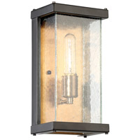 Craftmade Z9902-MNPAB Farnsworth 1 Light 12 inch Midnight and Patina Aged Brass Outdoor Pocket Sconce, Small