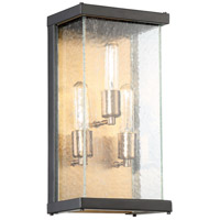 Craftmade Z9912-MNPAB Farnsworth 3 Light 16 inch Midnight and Patina Aged Brass Outdoor Pocket Sconce, Medium