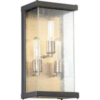 Craftmade Z9912-MNPAB Farnsworth 3 Light 16 inch Midnight and Patina Aged Brass Outdoor Pocket Sconce Medium