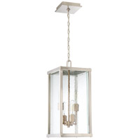 Farnsworth 4 Light 10 inch Brushed Nickel and Patina Aged Brass Outdoor Pendant