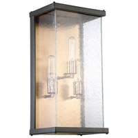 Craftmade Z9922-MNPAB Farnsworth 3 Light 20 inch Midnight and Patina Aged Brass Outdoor Pocket Sconce, Large