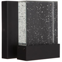 Craftmade ZA1200-TB-LED Aria II LED 6 inch Textured Matte Black Outdoor Wall Lantern, Small