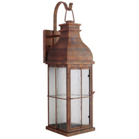 Craftmade ZA1804-WC-LED Vincent LED 19 inch Weathered Copper Outdoor Wall Lantern, Small