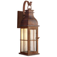 Craftmade ZA1814-WC-LED Vincent LED 24 inch Weathered Copper Outdoor Wall Lantern, Medium