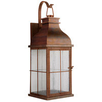 Craftmade ZA1824-WC-LED Vincent LED 25 inch Weathered Copper Outdoor Wall Lantern, Large