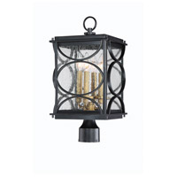 Craftmade ZA1915-MNPAB Hamilton 4 Light 19 inch Midnight and Patina Aged Brass Outdoor Post Mount