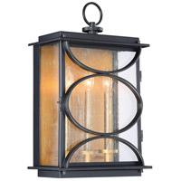 Craftmade ZA1922-MNPAB Hamilton 3 Light 20 inch Midnight and Patina Aged Brass Outdoor Wall Mount