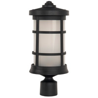 Craftmade ZA2315-TB Composite Lanterns 1 Light 17 inch Textured Matte Black Outdoor Post Lantern
