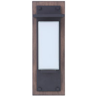 Craftmade ZA2502-WBMN-LED Heights 1 Light 15 inch Whiskey Barrel/Midnight Outdoor Wall Mount