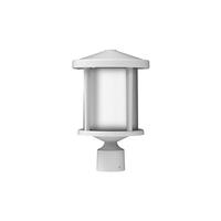 Craftmade ZA2215-TW Composite Lanterns 1 Light 14 inch Textured White Outdoor Post Lantern in Textured Matte White
