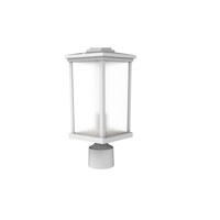 Craftmade ZA2415-TW Composite Lanterns 1 Light 15 inch Textured White Outdoor Post Lantern in Textured Matte White
