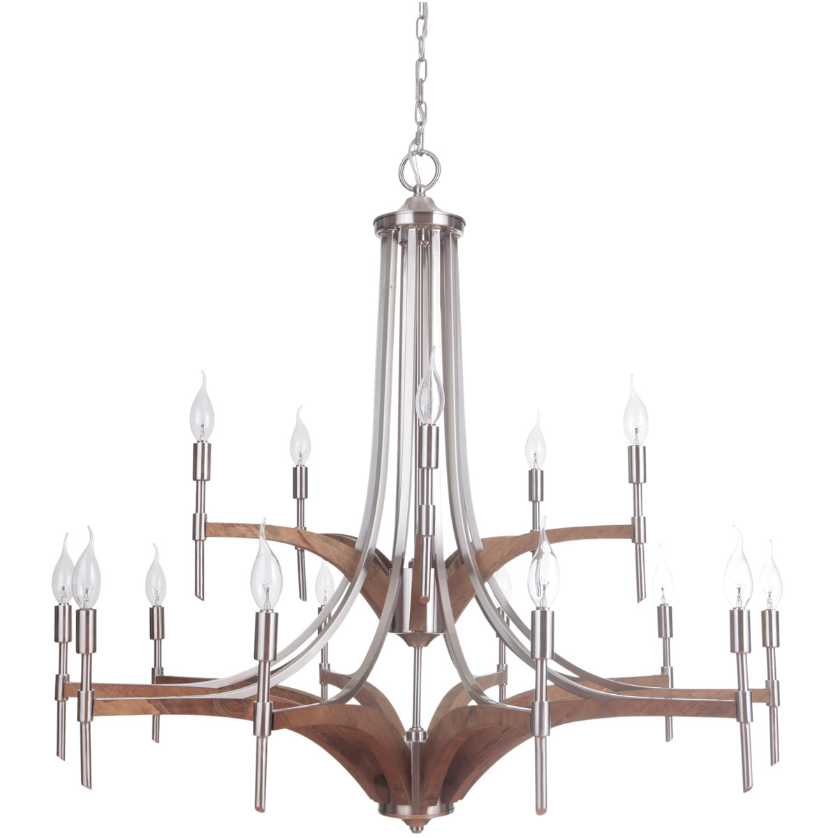 Craftmade 40315 bnkwb tahoe chandeliers brushed nickel and whiskey responsive image arubaitofo Images