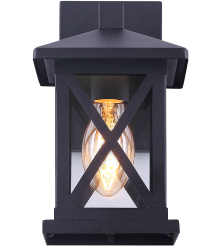Canarm Iol401bk Elm 1 Light 10 Inch Black Outdoor Down