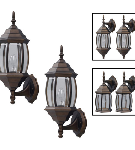 Rubbed Bronze Aluminum Outdoor Wall Lights