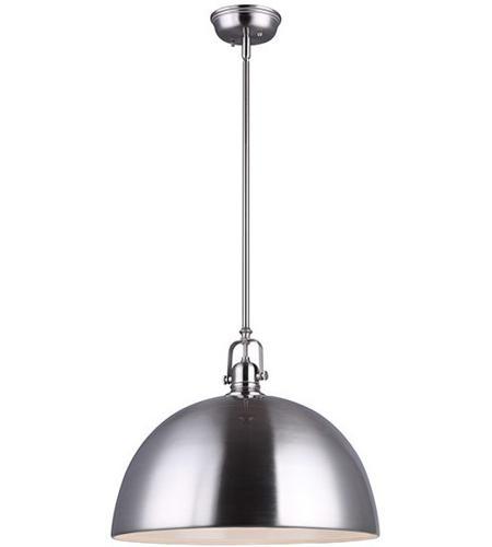 canarm ipl222b01bn16 polo 1 light 16 inch brushed nickel pendant