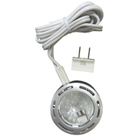 Signature 120V 3 inch Brushed Pewter Undercabinet Puck Lighting