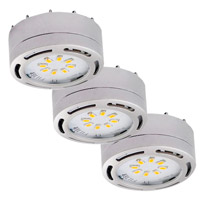 Signature 120V LED 3 inch Brushed Nickel Undercabinet Puck Lighting