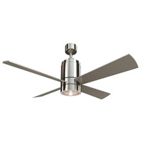 Axis 52 inch Brushed Nickel with Silver/Cherry Blades Ceiling Fan, Downrod Mount