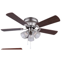 Coast 42 inch Brushed Nickel with Cherry/Walnut Blades Hugger Ceiling Fan