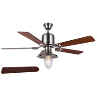 Sawyer 48 inch Brushed Nickel Indoor Ceiling Fan, Dual Mount